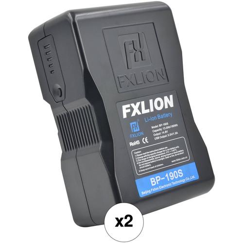 Fxlion 2 x Cool Black Series BP-190S 14.8V 190Wh V-Mount Batteries