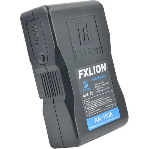 Fxlion Cool Black Series AN-160A 14.8V Lithium-Ion Gold Mount Battery (160Wh)
