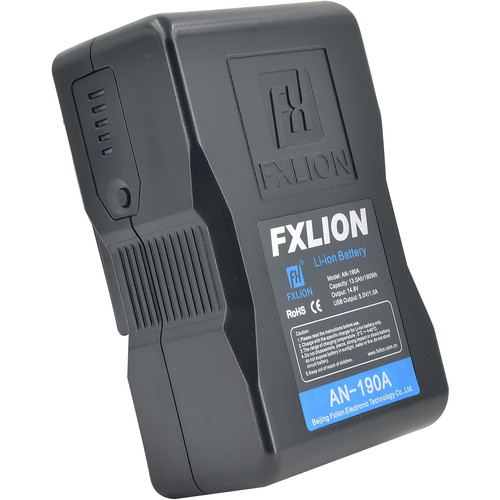 Fxlion Cool Black Series AN-190A 14.8V Lithium-Ion Gold Mount Battery (190Wh)