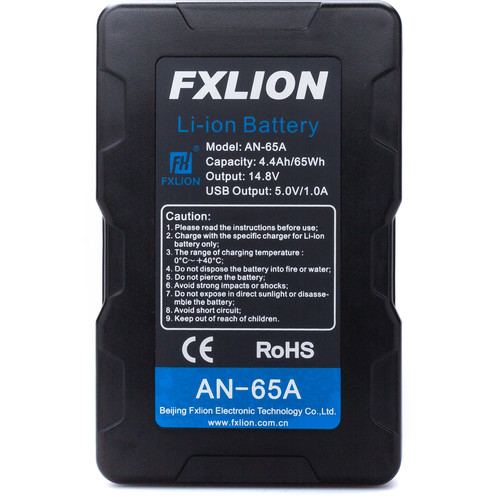 Fxlion Cool Black Series AN-65A 14.8V Lithium-Ion Gold Mount Battery (65Wh)