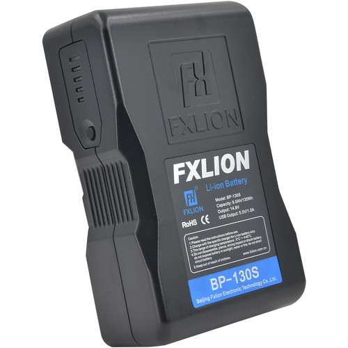 Fxlion Cool Black Series 14.8V Lithium-Ion Battery (130Wh, V-Mount)