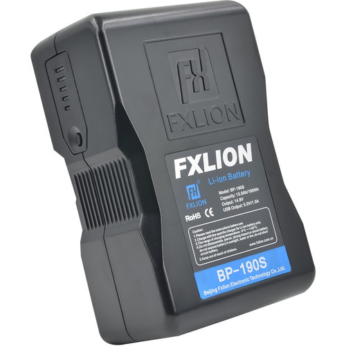 Fxlion Cool Black Series BP-190S 14.8V Lithium-Ion V-Mount Battery (190Wh)