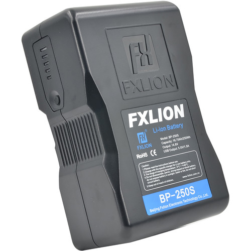 Fxlion Cool Black Series BP-250S 14.8V Lithium-Ion V-Mount Battery (250Wh)