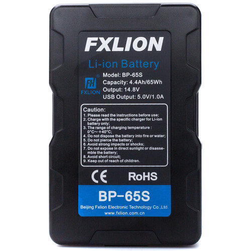 Fxlion Cool Black Series BP-65S 14.8V Lithium-Ion V-Mount Battery (65Wh)