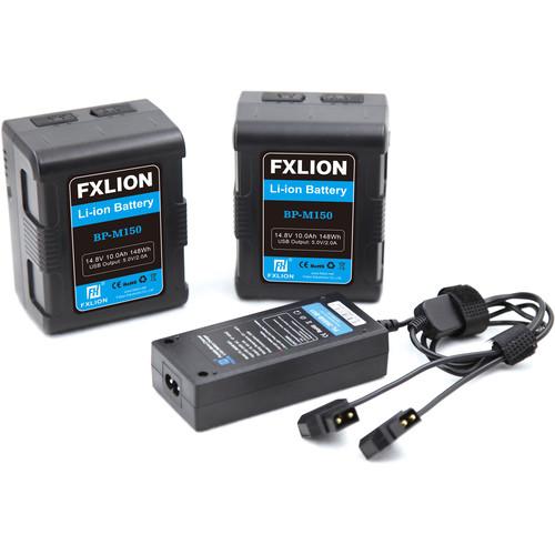 Fxlion Square 14.8V V-Mount Lithium-Ion Battery Kit (10Ah, 148Wh)