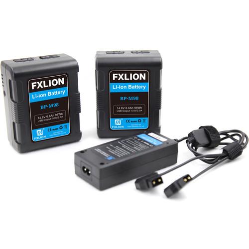 Fxlion Square 14.8V V-Mount Lithium-Ion Battery Kit (6.7Ah, 98Wh)