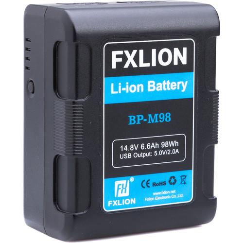 Fxlion Square V-Mount Lithium-Ion Battery, 14.8V, 6.7Ah, 98Wh