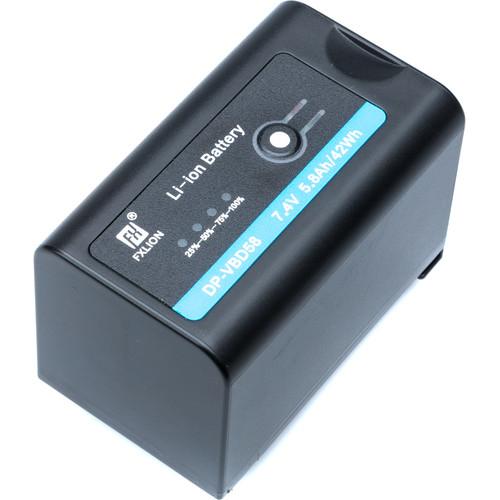 Fxlion 42Wh 7.4V Battery with Panasonic VW-VBD58 Mount