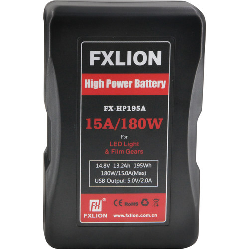 Fxlion FX-HP195A 14.8V Lithium-Ion Gold Mount Battery (13.2Ah, 195Wh)