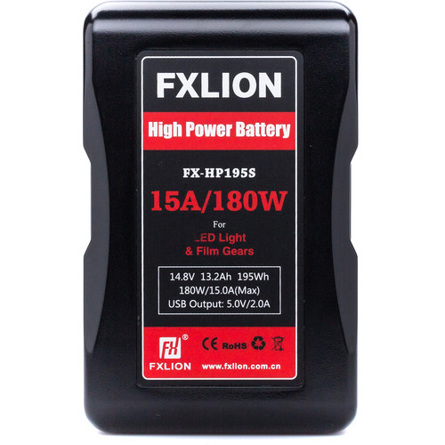 Fxlion FX-HP195S 14.8V Lithium-Ion V-Mount Battery (13.2Ah, 195Wh)