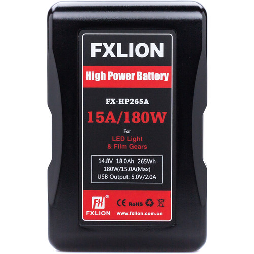 Fxlion FX-HP265A 14.8V Lithium-Ion Gold Mount Battery (18Ah, 265Wh)