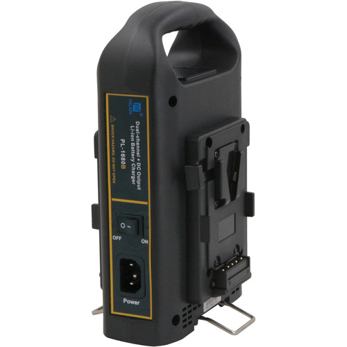 Fxlion Dual-Channel V-Mount Battery Charger with DC Output for HD Video Camera