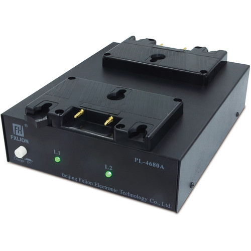 Fxlion Dual-Channel Gold-Mount and AN Battery Charger with DC Output for HD Video Camera