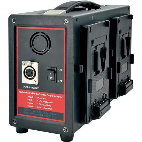 Fxlion 24V Skypower Quad-Channel V-Mount Battery Output Adapter