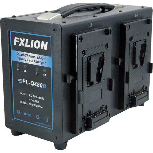 Fxlion Quad-Channel V-Mount Fast Battery Charger