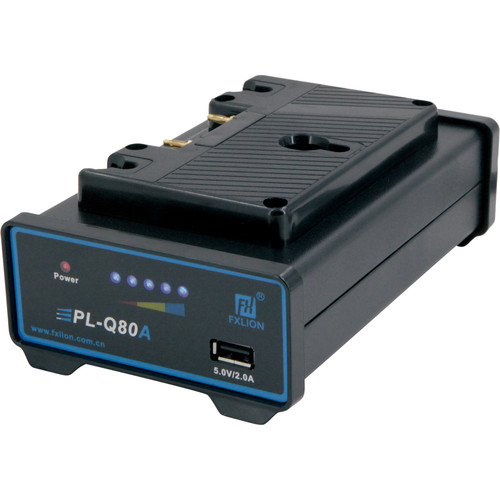 Fxlion Single-Channel Gold-Mount and AN Li-Ion Battery Charger with USB Port