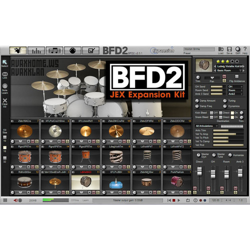FXpansion BFD JEX - Expansion Pack for BFD3, BFD Eco, BFD2 (Download)