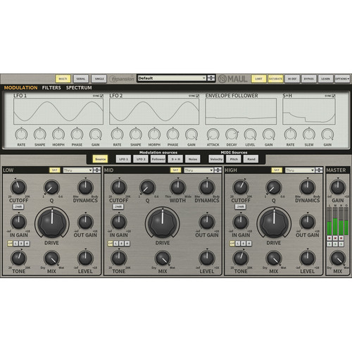 FXpansion Maul - Distortion and Tone-Shaper Plug-In (Download)