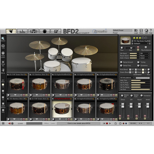 FXpansion BFD Signature Snares V.1 - Expansion Pack for BFD3, BFD Eco, BFD2 (Download)