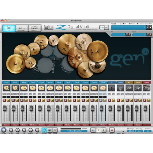 FXpansion Zildjian Digital Vault Vol.1 - Expansion Pack for BFD3, BFD Eco, BFD2 (Download)