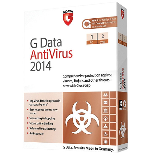 G Data Software Antivirus 2014 Software Download (1 PC, 2-Year)