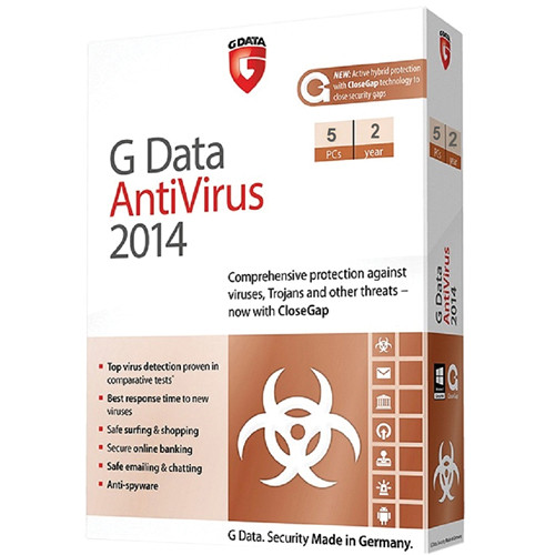 G Data Software Antivirus 2014 Software Download (5 PC, 2-Year)
