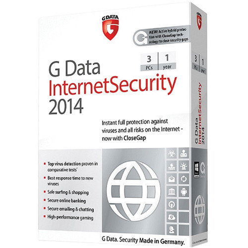 G Data Software Internet Security 2014 Software Download (3 PC, 1-Year)