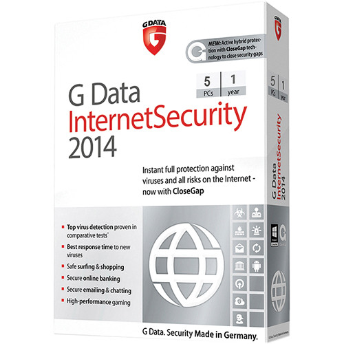 G Data Software Internet Security 2014 Software Download (5 PC, 1-Year)