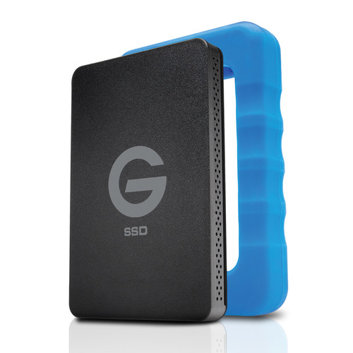 G-Technology 500GB G-DRIVE ev RaW USB 3.0 SSD with Rugged Bumper