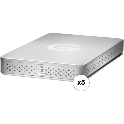 G-Technology 1TB G-Drive ev Portable USB 3.1 Gen 1 HDD (5-Pack)