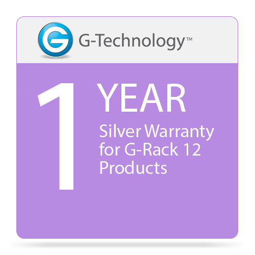 G-Technology Silver 1-Year Service Warranty for G-Rack 12 Products