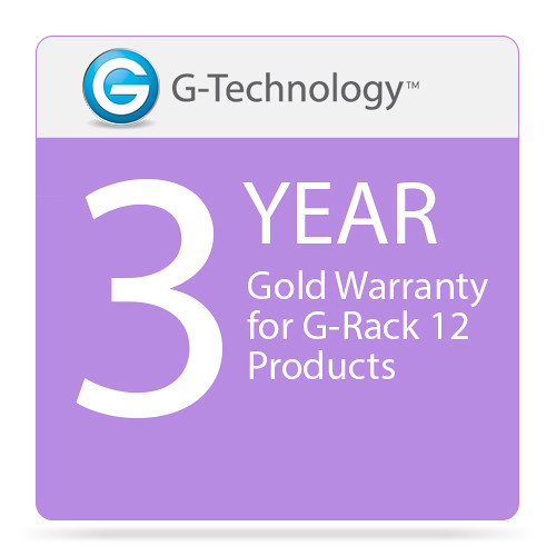 G-Technology Gold 3-Year Service Warranty for G-Rack 12 Products
