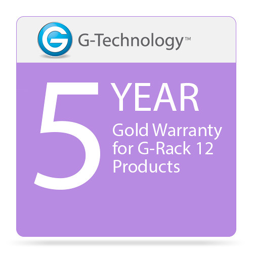 G-Technology Gold 5-Year Service Warranty for G-Rack 12 Products