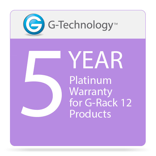 G-Technology Platinum 5-Year Service Warranty for G-Rack 12 Products