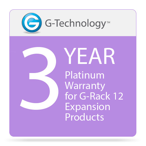 G-Technology Platinum 3-Year Service Warranty for G-Rack 12 Expansion Products