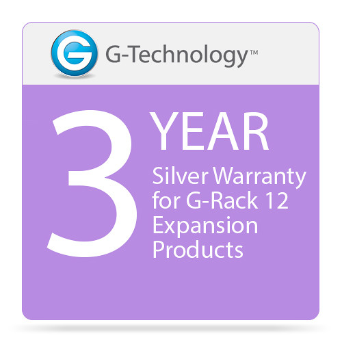 G-Technology Silver 3-Year Service Warranty for G-Rack 12 Expansion Products