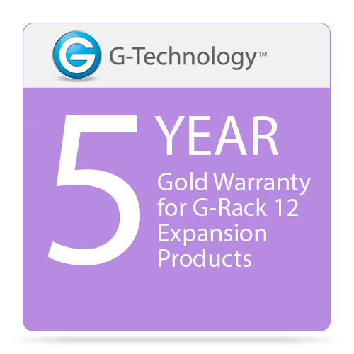 G-Technology Gold 5-Year Service Warranty for G-Rack 12 Expansion Products