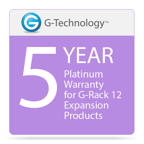 G-Technology Platinum 5-Year Service Warranty for G-Rack 12 Expansion Products