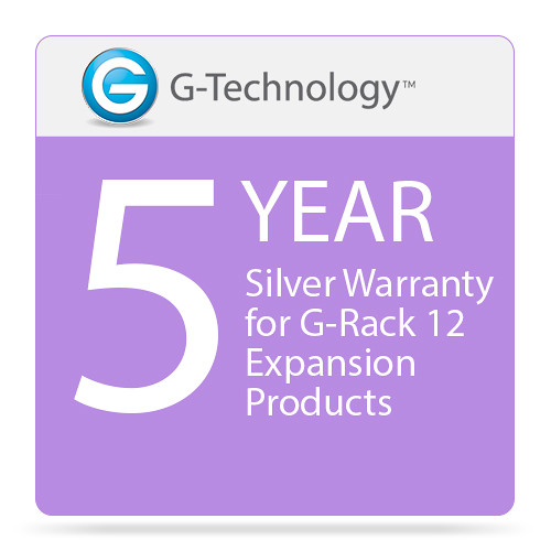 G-Technology Silver 5-Year Service Warranty for G-Rack 12 Expansion Products