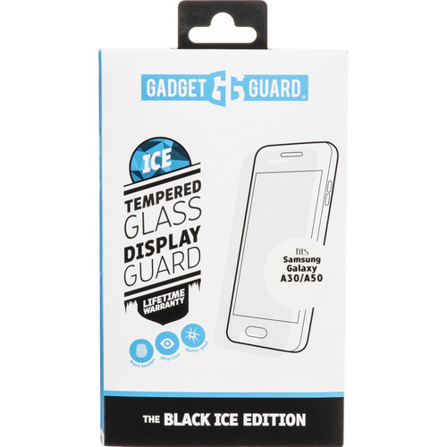 Gadget Guard Black Ice Edition Tempered Glass Screen Protector for Galaxy A30/A50