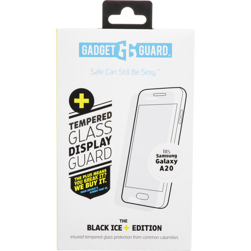 Gadget Guard Black Ice+ Edition Insured Glass Screen Protector for Galaxy A20
