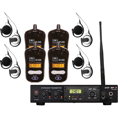 Galaxy Audio Galaxy Audio ALS-RMBPR-4 Assistive Listening System with AS-EC3