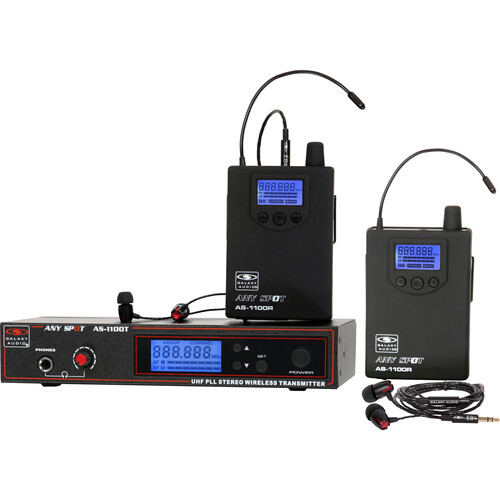 Galaxy Audio AS-1100-2N Wireless In-Ear Twin Pack Monitor System (N: 518 to 542 MHz)