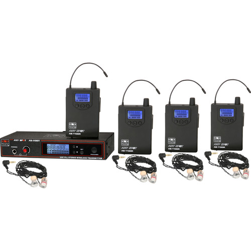 Galaxy Audio AS-1106-2N Wireless In-Ear Twin Pack Monitor System (N: 518 to 542 MHz)