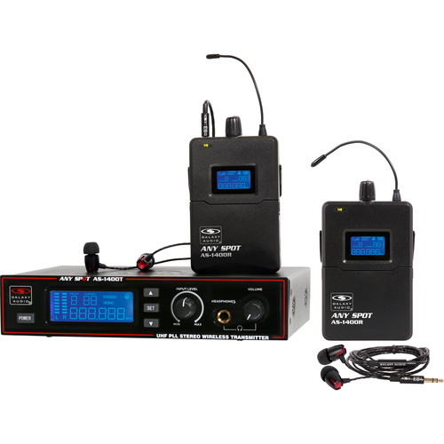 Galaxy Audio AS-1400-2M Wireless In-Ear Twin Pack Monitor System (M: 516 to 558 MHz)