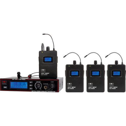 Galaxy Audio AS-1400-4 Band Pack UHF Wireless In-Ear Personal Monitoring System