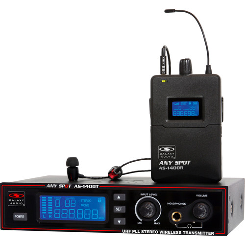 Galaxy Audio AS-1400 UHF Wireless In-Ear Personal Monitoring System