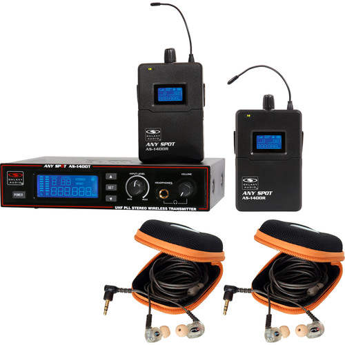 Galaxy Audio AS-1410-2M Wireless In-Ear Twin Pack Monitor System (M: 516 to 558 MHz)