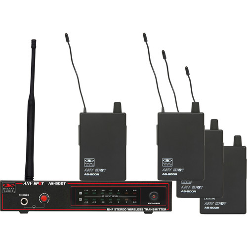 Galaxy Audio AS-900 Any Spot 4-Band Pack Wireless Personal Monitoring System (N1 Band: 514.4 MHz)