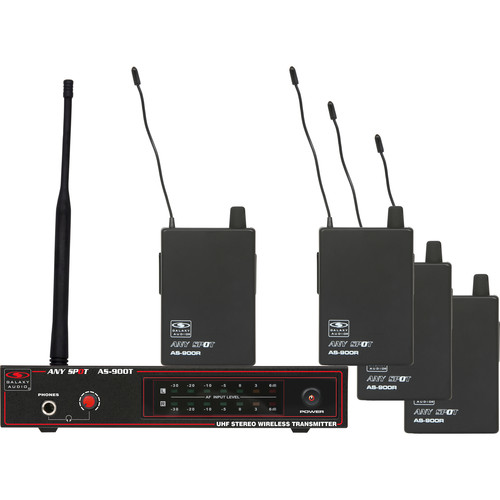 Galaxy Audio AS-900 Any Spot 4-Band Pack Wireless Personal Monitoring System (N4 Band: 521.85 MHz)
